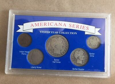 Americana Series Yester Year Collection 1910 Barber Half Dollar 5 Coins Sealed