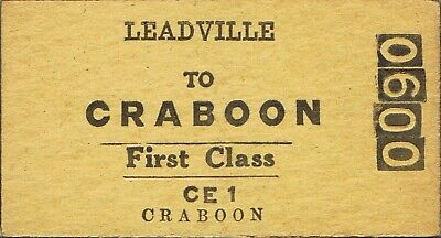Railway tickets a trip from Leadville to Craboon by the old NSWGR