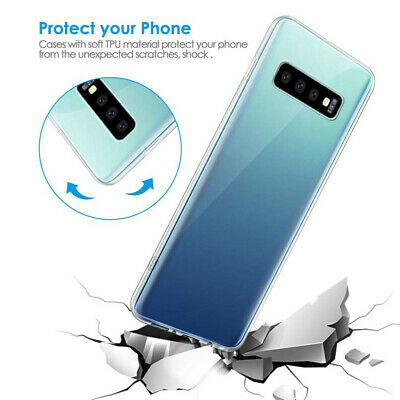 For Samsung S10 / S10 Plus Clear Slim Thin Non-slip Back Hybrid Hard Case Cover