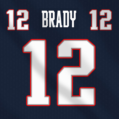 huge selection of 3a15f da84f TOM BRADY SUPERBOWL New England Patriots NFL Dark Football Jersey Lettering  Kit