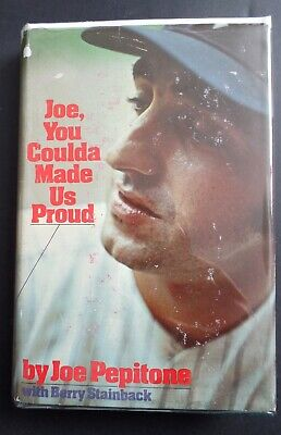 Joe Pepitone You Coulda Made Us Proud 1st Edition Vintage Book New York Yankees