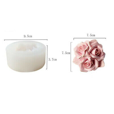 3D Rose Flower Silicone Mold DIY Aromatherapy Gypsum Plaster Ornament Mould