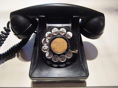 Vintage Bell System by Western Electric Black Telephone Rotary Dial F1
