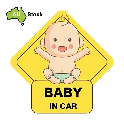 Baby in Car / Baby on Board Safety Sign Window Sticker