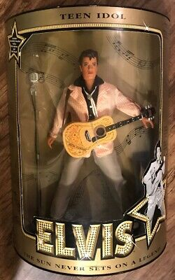 "Elvis Presley Teen Idol 12"" Collectors Doll With Guitar, Microphone & Doll Stand"