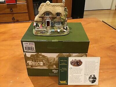 Lillyput Lane Cottage Collectable 'Dolly Peg' EUC With Box And Deeds