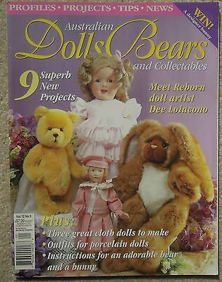 AUSTRALIAN DOLLS BEARS & COLLECTABLES Vol 12 No 6 Incl. PATTERN SHEET