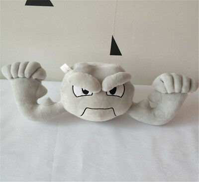 "12"" Geodude Pokemon Center Plush Toy Anime Soft Stuffed Doll Xmas Gift For Kids"