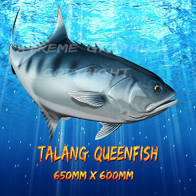 Talang Queen Fish Jack Decal Left&right 650Mm X 600Mm  Boat / Car / Truck