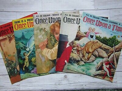 """""""ONCE UPON A TIME"""" CHILDREN'S MAGAZINE  x5 1960s/70s #16"""