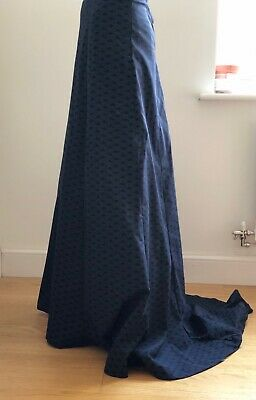 Handmade Edwardian style (early 1900s) Fish tail Skirt full length, trains, new