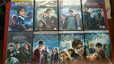 Harry Potter dvd the Complete Collection All Individual Mint Condition