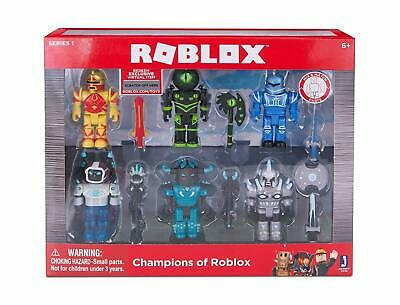 Champions of ROBLOX Playset + Exclusive Virtual Item 6 Figures Pack Toy Gift Set