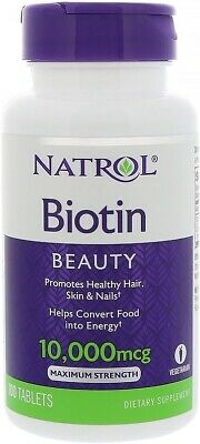 Maximum Strength Biotin, Natrol, 100 tablet 1 Bottle