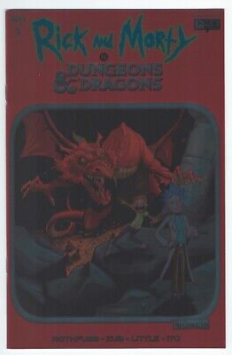 Rick and Morty vs Dungeons & Dragons #1 (Aug, 2018) NYCC Foil Variant LTD 700 NM