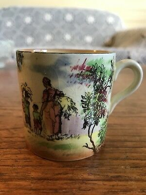 "Vintage Royal Doulton Old English Scenes ""The Gleaners"" D4983 Miniature Mug"