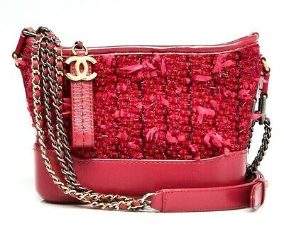 b17a2f189a0d84 CHANEL PINK TWEED & Leather Small Gabrielle Hobo Bag - $4,295.00 ...