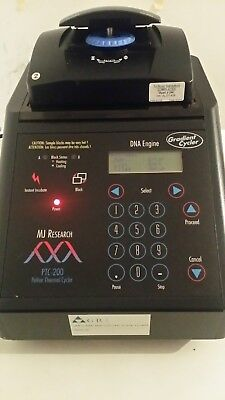 MJ Research PTC-200 PCR Gradient DNA Engine Thermal Cycler, Alpha Unit Block.