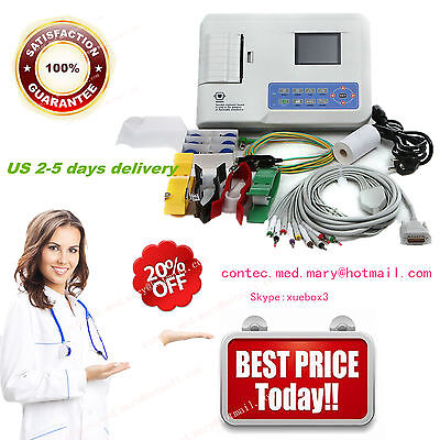 ConTec Digital 3-Channel 12-Lead ECG EKG Monitor,Thermal Printer,ECG300G FDA&CE