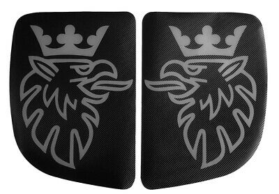Carbon Fiber Black Stickers Gray Griffin Bed Window Decals for SCANIA R 2004-16