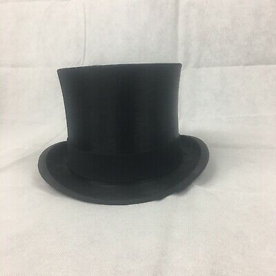 a274f546fc8c2 Herbert Johnson Black Silk Top Hat 58.5Cm Excellent Condition With Box Ascot