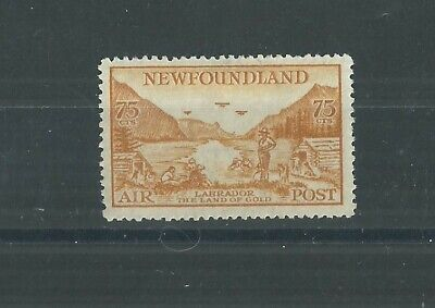 NEWFOUNDLAND 1933 75c AIR FRESH MLH