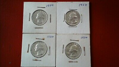 Washington Quarters - 90% Silver - Lot of 4 Coins - $1 Face Value