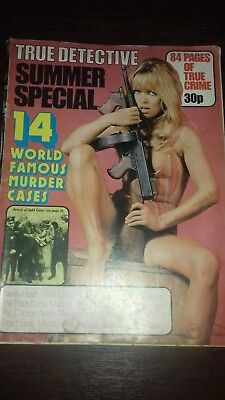 true detective magazine summer special 1975 good condition for age