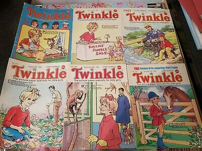 Twinkle Comic 1983/4/5 Vintage 6 Issues