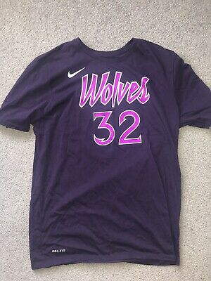 Karl Anthony Towns T Shirt Medium Nike Dri Fit Miinnesota