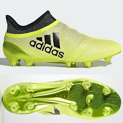 adidas X 17+ Purespeed FG Mens Football Boots Firm Ground Yellow ALL SIZES 6-13
