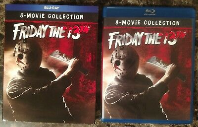 Friday the 13th Complete 8 Movie Collection 6-Disc Blu-ray Box Set w Slipcover