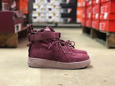new style fc3c8 6395f NIKE SF AIR Force 1 Force is Female Womens Shoe Wine AJ1698-600 NEW All  Sizes