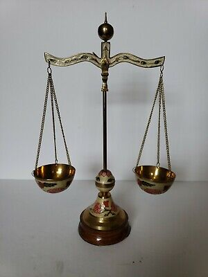 Vintage Laquered Brass Apothecary Balance Scale