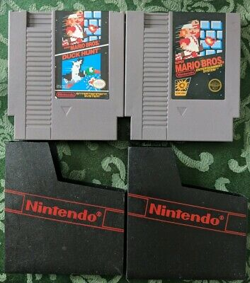 Super Mario Bros NES Nintendo 2 Game Lot - Free Shipping