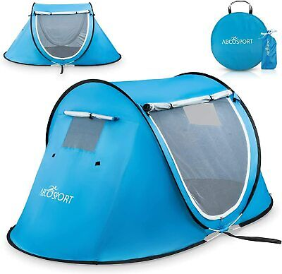 Abco Tech Pop-up Tent Instant Portable Cabana Beach Pop Up Tent For 2 Sky Blue