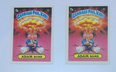 Garbage Pail Kids 1st Series Adam Bomb 1A Variant Matte/Gloss Lot Of 2 Topps '85