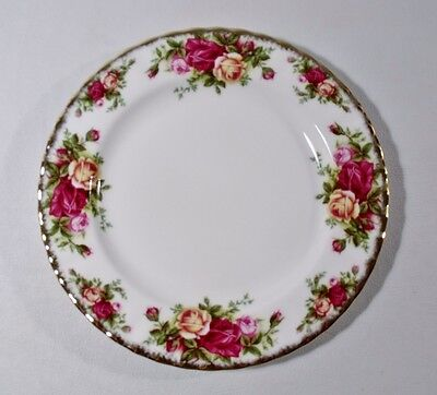 "2 Royal Albert OLD COUNTRY ROSES 8"" Salad Plates EXCELLENT"