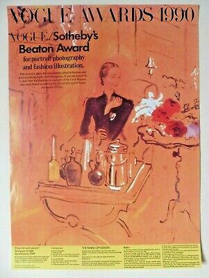 Poster Cecil Beaton Vouge Awards 1990