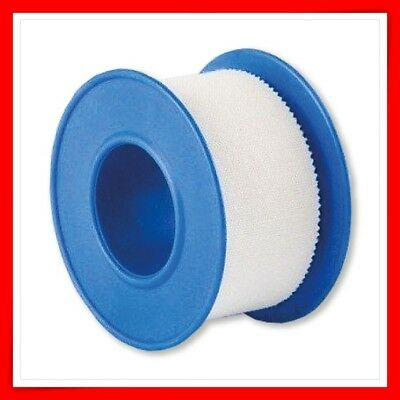 2x WHITE ADHESIVE FABRIC TAPE FIRST AID 1.25 CM X 5M  QUALITY CE MARK