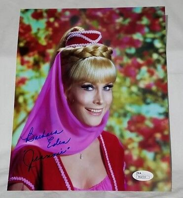 JEANNIE Barbara Eden Signed/Autograph Photo/Pic JSA Certified