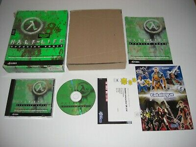 HALF-LIFE OPPOSING FORCE Pc Cd Rom Add-On - Original HALF LIFE BIG BOX