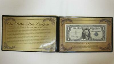1957 A One Dollar $1 Silver Certificate In Folder With COA