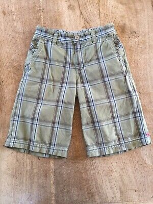 a556e3f64588af QUIKSILVER BOYS BLACK blue green plaid cotton skater shorts NEW ...