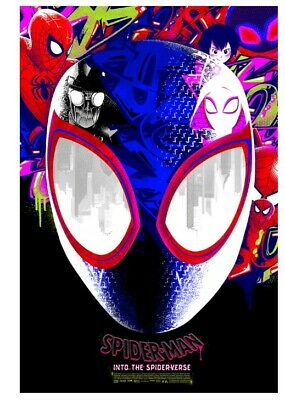 Spider-Man Into the Spider-Verse by Anthony Petrie #/200 Grey Matter Art