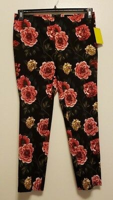 f071e01a256 NWT JULES   LEOPOLD Womens Sz LARGE Floral Slim Leg Ankle Stretch Pull On  Pants