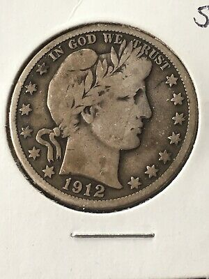 1912-S Barber Half Dollar - Scarce!!  Better Date!!  #e1875