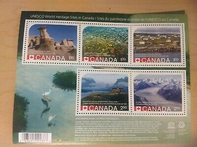 2015 UNESCO World Heritage Park Sites ERROR RARE Souvenir Stamp Sheet