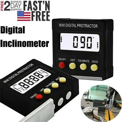 Cube Inclinometer Angle Gauge Meter Digital LCDs Protractor Electronic Level Box