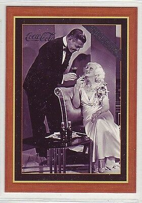1995 Coca Cola Coke Series 4 Hollywood Celebrities Clark Gable & Jean Harlow #H2